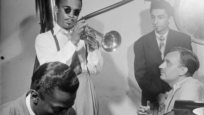Howard McGhee, Brick Fleagle and Miles Davis, ca September 1947